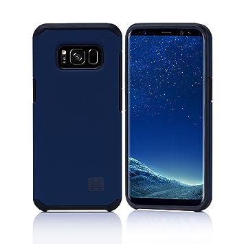 32nd Funda Armadura Rigida Slim Armour con Doble Carcasa para Samsung Galaxy S8 - Azul Pizarra
