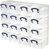 Really Useful Boxen/Kunststoff-Organizer, 0,3Liter Fassungsvermögen, 16Stück,Farbe:Transparent