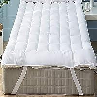 Niagara Sleep Solution Mattress Topper Queen (2 Bonus Pillow Cases) Plush Down Alternative Quilted Fitted Skirt Protector Mattress Pad Reviver Enhancer
