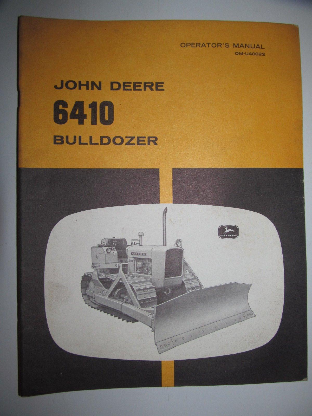 John Deere 6410 Bulldozer Operators Owners Manual Original OM-U40022: John  Deere: Amazon.com: Books