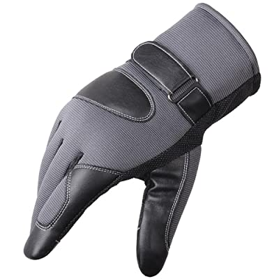 Qualilty Outdoor Men Women Bicycle Gloves Leather Fitness Sports Camping Accessory
