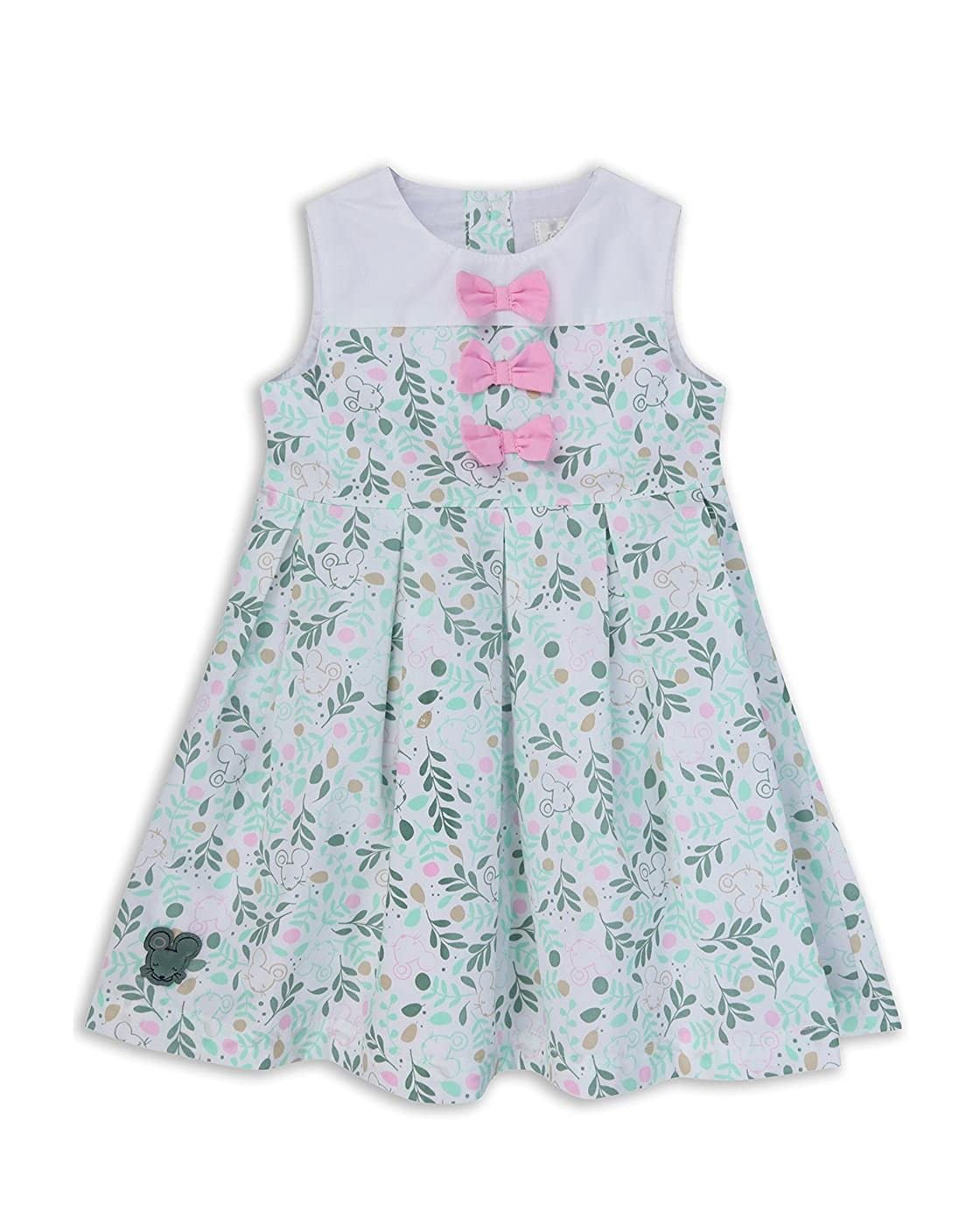 The Essential One Baby Kids Girls - Tropical Print Dress - Green - EOT351