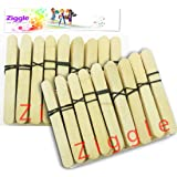 Ziggle Wooden Ice Cream Popsicle Sticks - Pack of 400 Pcs (IcecreamNormal400, Multicolour)