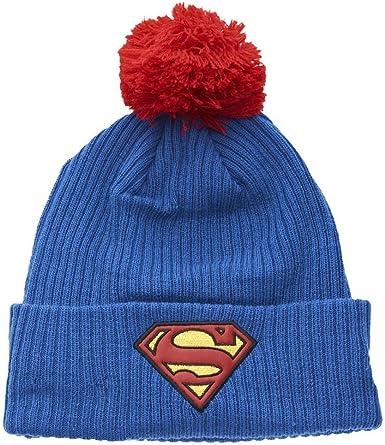 : New Era Superman Bobble Cuff Knit Youth Beanie