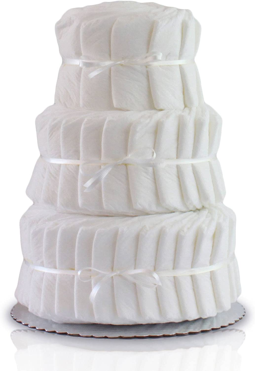 Decorate It Yourself 3 Tier Plain Diaper Cake-60 Diapers