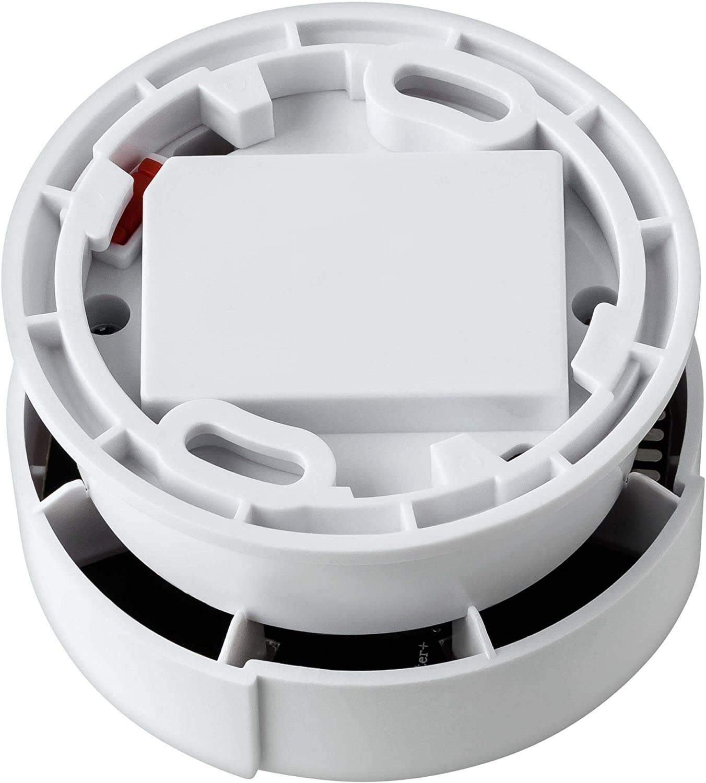 VDS 3131 /Ø69x46mm Muet photo/électrique SEBSON 4X D/étecteur de Fum/ée Mini de 10 Ans DIN en 14604 Batterie au Lithium Longue dur/ée