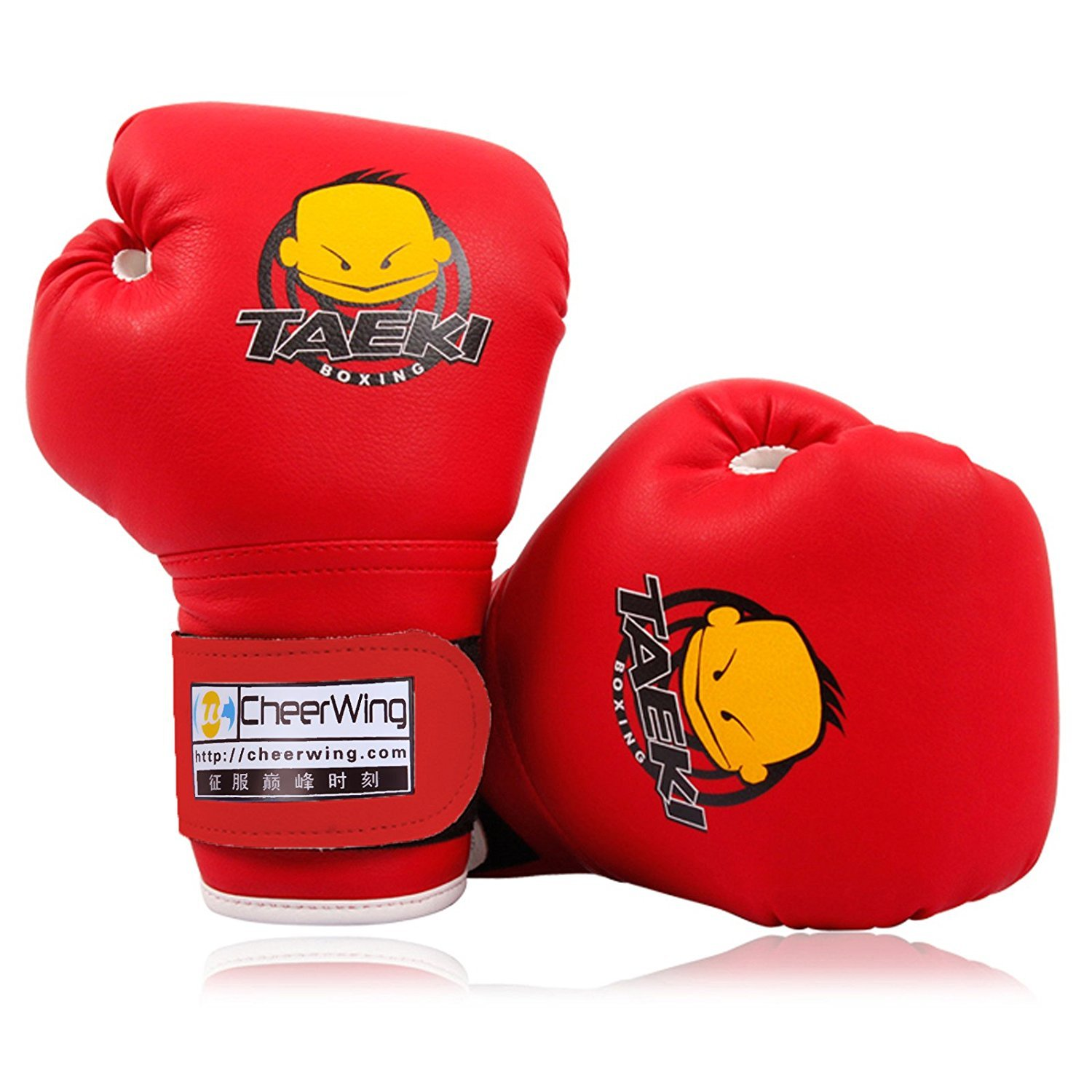 Cheerwing 4oz PU Kids Boxing Gloves Children Cartoon MMA Sparring Dajn Training Gloves Age 5-10 Years Red