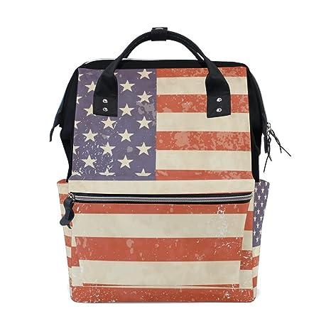 BENNIGIRY - Bolsa de pañales con bandera de Estados Unidos ...