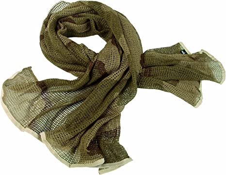 Tactical Military Army Camouflage Camp Scarf Wrap Face Veil Net Mesh Cover Mens