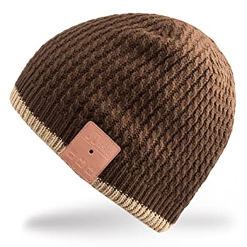 Rotibox lavable Bluetooth Gorra de sombrero de música con auriculares inalámbricos sobre auriculares auriculares Auriculares de