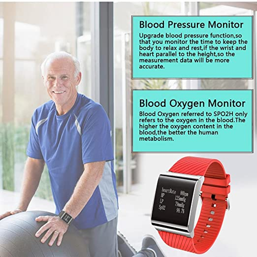 KOBWA Pulsera Actividad, Fitness Tracker con Monitor del Ritmo Cardíaco, Tensiometro, Monitor de Dormir, Podómetro, Monitor de Calorías, IP67 Impermeable ...