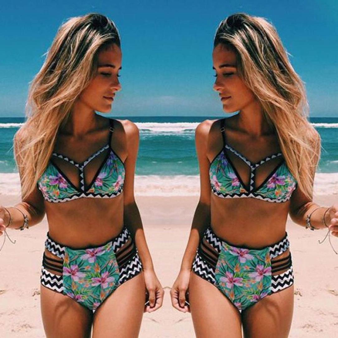 OverDose Costumi da Bagno Donne Costume Brasiliana Costumi da Bagno Push Up Piscina Sportivi Bikini Donna Beachwear Due Pezzi