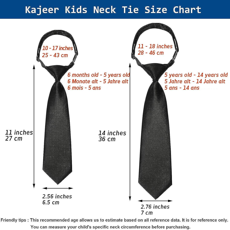 Kajeer Corbata pre-atada hecha a mano para niñas, ajustable para ...