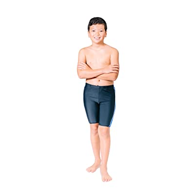 Topsport Boys' Xtra Contrast Insert w/White Piping Xtra Lycra Jammers-Black/Royal inserts w/white piping-size 26
