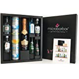 MicroBarBox Gin Fizz & Prosecco Gift Set including Sipsmith Gin, Edinburgh Gin, Bombay Sapphire, Anno Kent Dry Gin | Cocktails: Classic G&T, Raspberry Gin Fizz, Elderflower Collins, Rhubarb Gin-Ginger Fizz