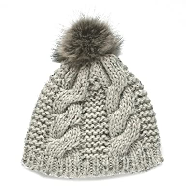 024fdf09264 Beanie with Bobble Knit Hat Ladies Oatmeal Fleck from Ireland at ...