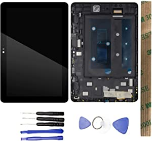 JayTong LCD Display & Replacement Touch Screen Digitizer Assembly with Free Tools for Amazon Kindle Fire HD8 HD 8 10th Gen 2020 K72LL4 Black with Frame