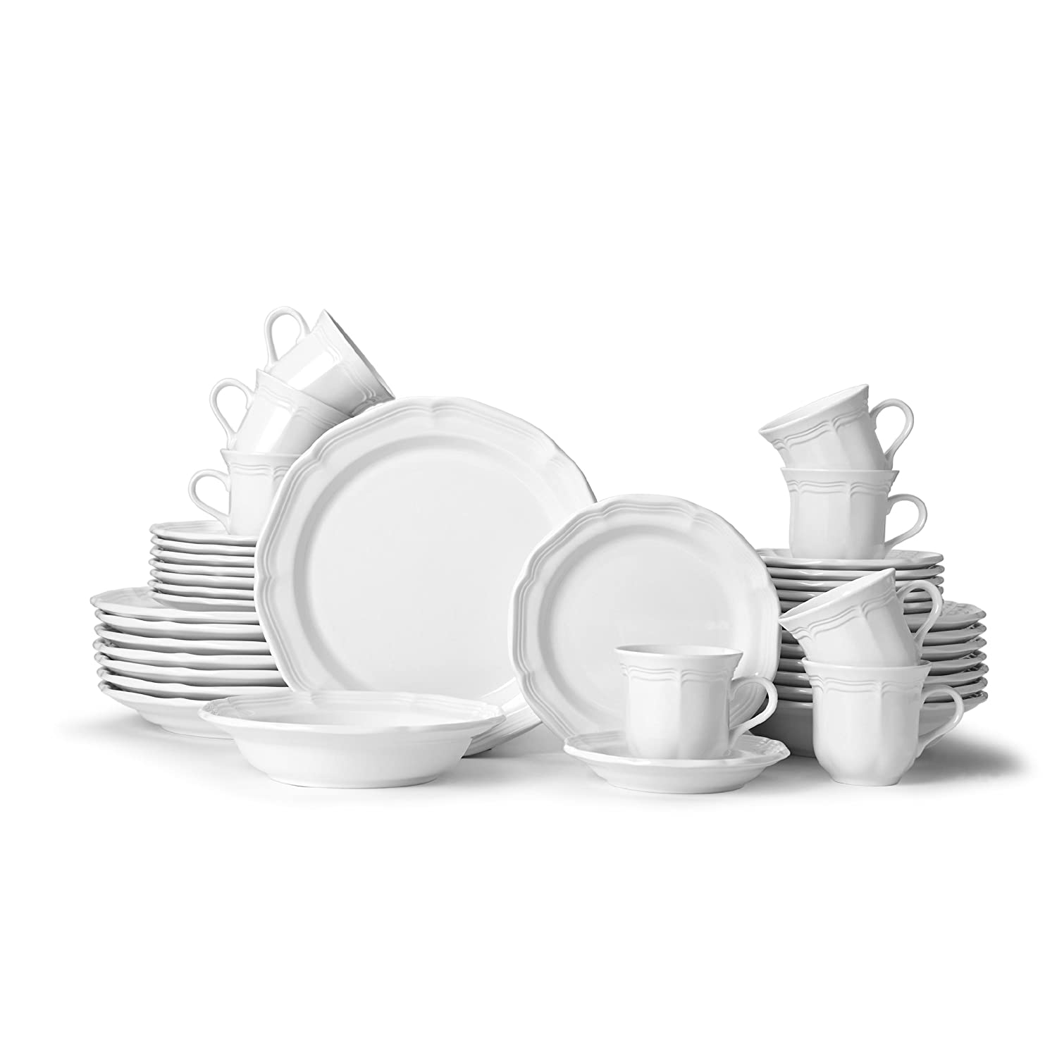 Amazon.com | Mikasa 5223387 French Countryside 40-Piece Dinnerware Set Service for 8 Dinnerware Sets  sc 1 st  Amazon.com & Amazon.com | Mikasa 5223387 French Countryside 40-Piece Dinnerware ...