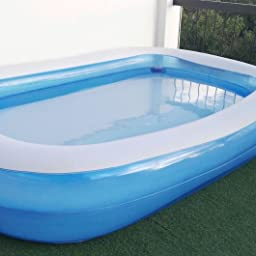 Piscina Hinchable Infantil Bestway Azul Rectangular 262 cm: Amazon ...