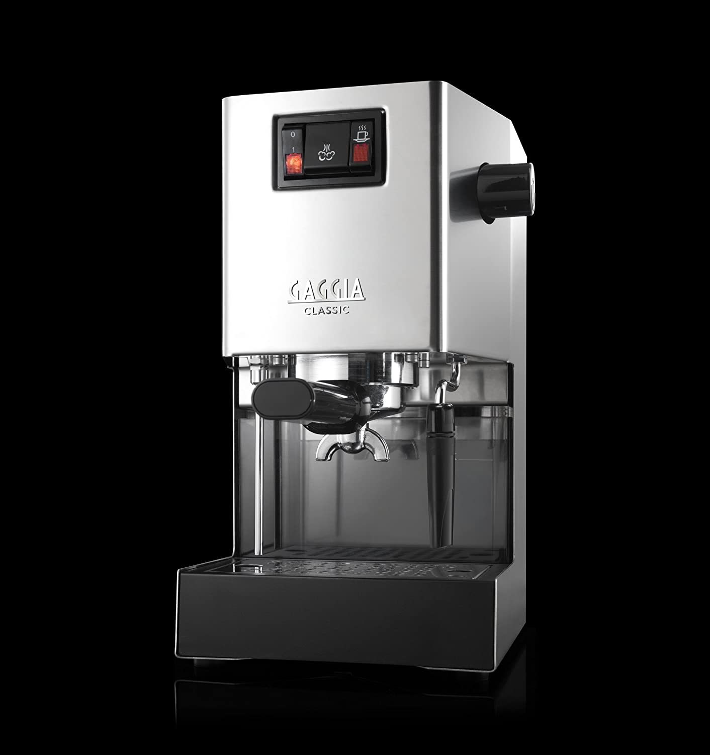 Electronic Real Coffee Machine gaggia classic ri8161 coffee machine with professional filter holder stainless steel body amazon co uk kitchen home