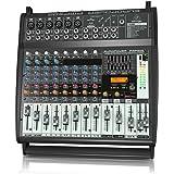 BEHRINGER PMP500 500-Watt 12-Channel Powered Mixer with Klark Teknik Multi-Fx Processor Compressors Black