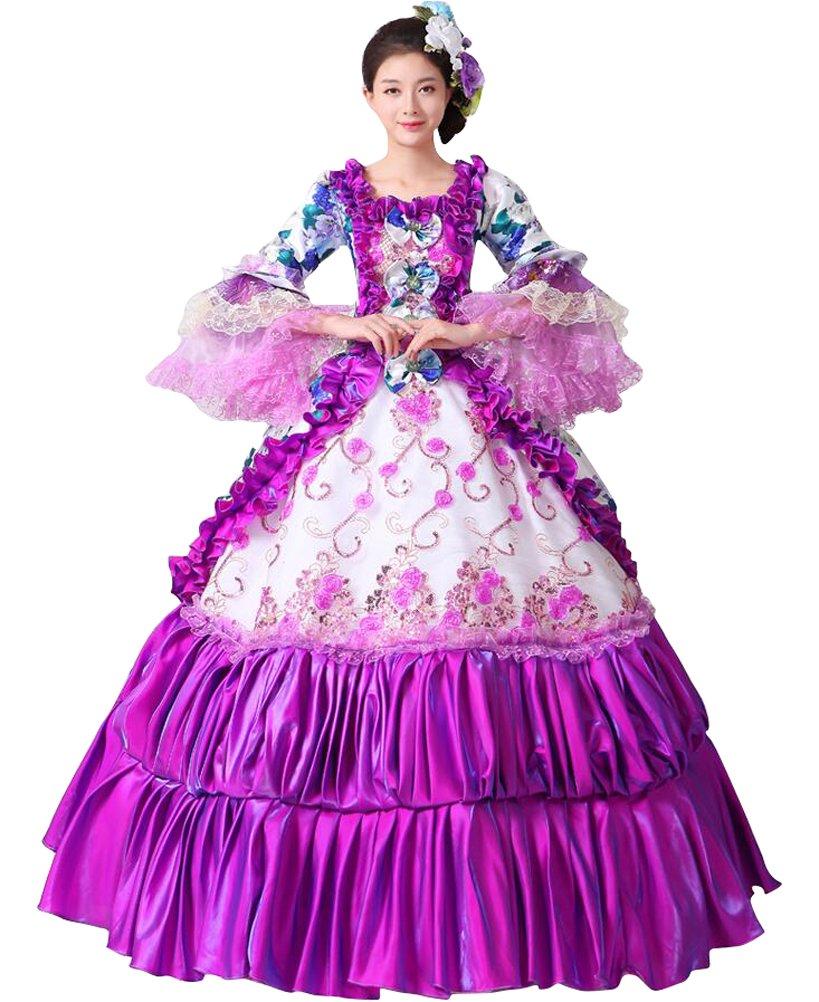 FENIKUSU Women\'s Gothic Victorian Fancy Dress Prom Palace Masquerade ...