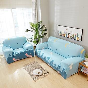 JiaQi Stretch Tela Protector para sofás,Funda elástica,Cubierta Universal del sofá Anti-mite Protector de Mascota Perro Gato Guardapolvo-G sofá: Amazon.es: ...