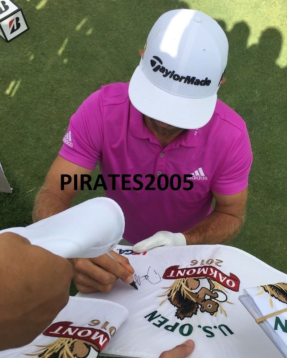 Dustin Johnson Autographed Signed 2016 Us Open Pin Flag Oakmont Champion Proof U.S. JSA Authentic
