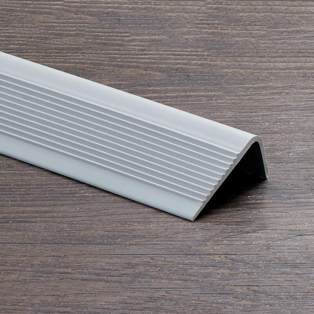 HUIJ Perfil Bordes de escaleras Autoadhesivo Perfil de Borde Antideslizante Nariz Antideslizante Escalera Cinta de Ribete de PVC Impermeable y Antideslizante.para escaleras de salón(1m): Amazon.es: Hogar