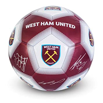 21b55a865e94 West Ham Signature Ball Blue Size 5  Amazon.co.uk  Toys   Games