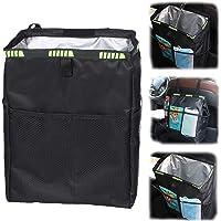 Car Waterproof Trash Bag Litter Bin Can Garbage Waste Storage Organizer Box, Closeable Portable Car Trash Bags, Easy to…