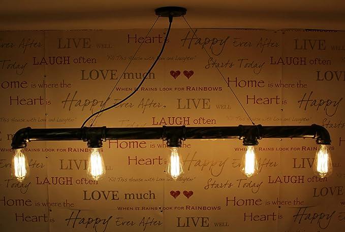 steampunk lighting. Industrial Steampunk Lighting Iron Pipe Edison Bulb Ceiling Bar Light Lamp  Black-Bronze Steampunk Lighting O