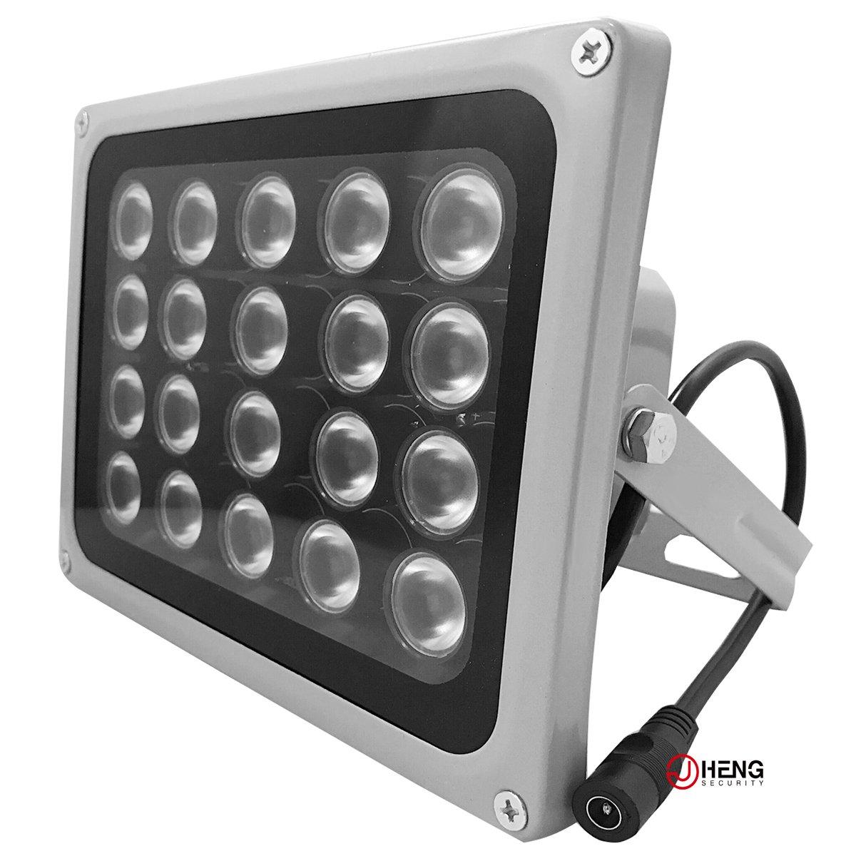 JC Infrared Illuminator, 850nm 20 Leds 90 Degree Wide Angle IR Illuminator for Night Vision,Waterproof LED Infrared Light-LITE VERSION