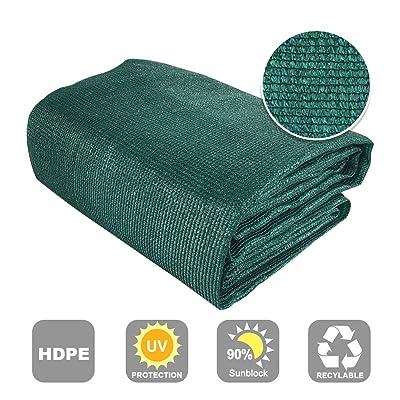 Shatex 90% Sun Shade Fabric for Pergola Cover Porch Vertical Screen 8' x 6', Dark Green : Garden & Outdoor