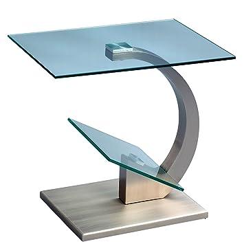 Hometrends4you 531188 Beistelltisch Divina Metall Edelstahloptik