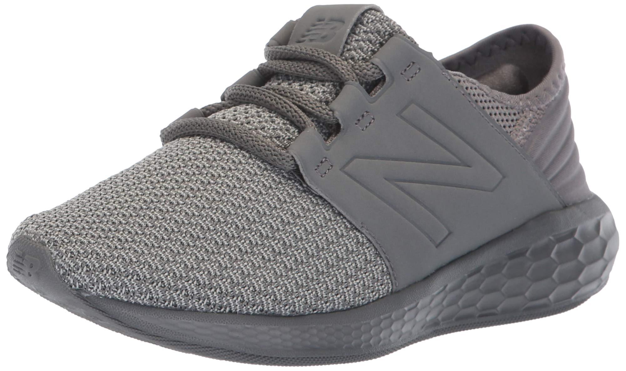 New Balance Boys' Cruz V2 Fresh Foam Running Shoe, Team Away Grey, 4 W US Big Kid