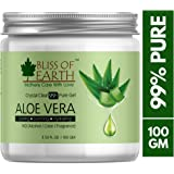 Bliss of earth™ 99% Pure Crystal Clear Aloe Vera Gel | 100GM | Great For Face, Body & Hair | Effective Cooling, Soothing & Hydrating | Paraben Free |…