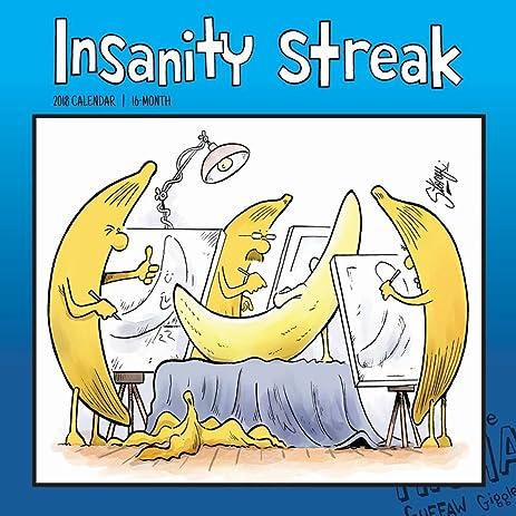 Amazon.com : 2018 Insanity Streak 12x12 Wall Calendar by For Arts ...