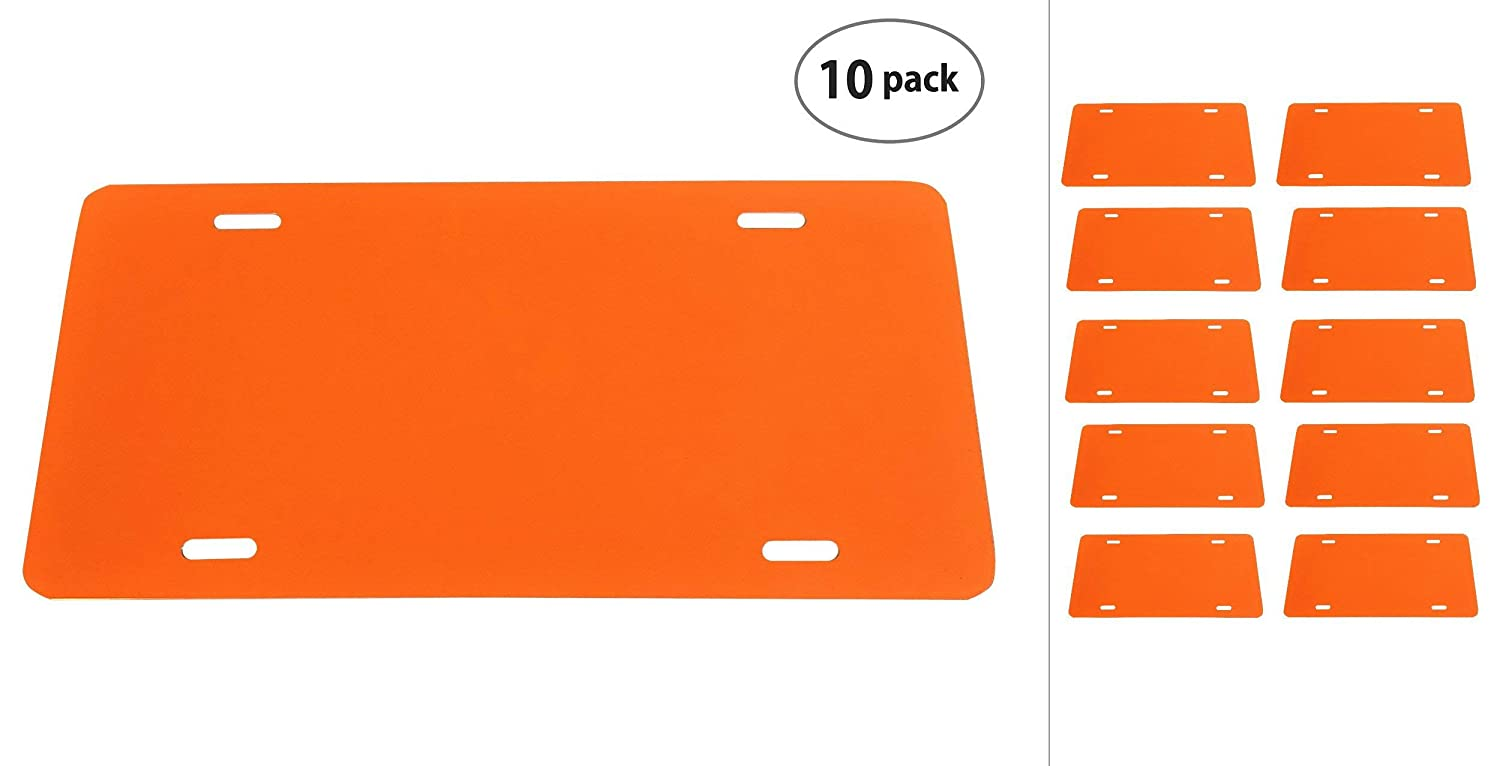 Orange Juice Partsapiens Corp - 12x6 Anodized Aluminum License Plate Blank Heavy Gauge .040 1mm