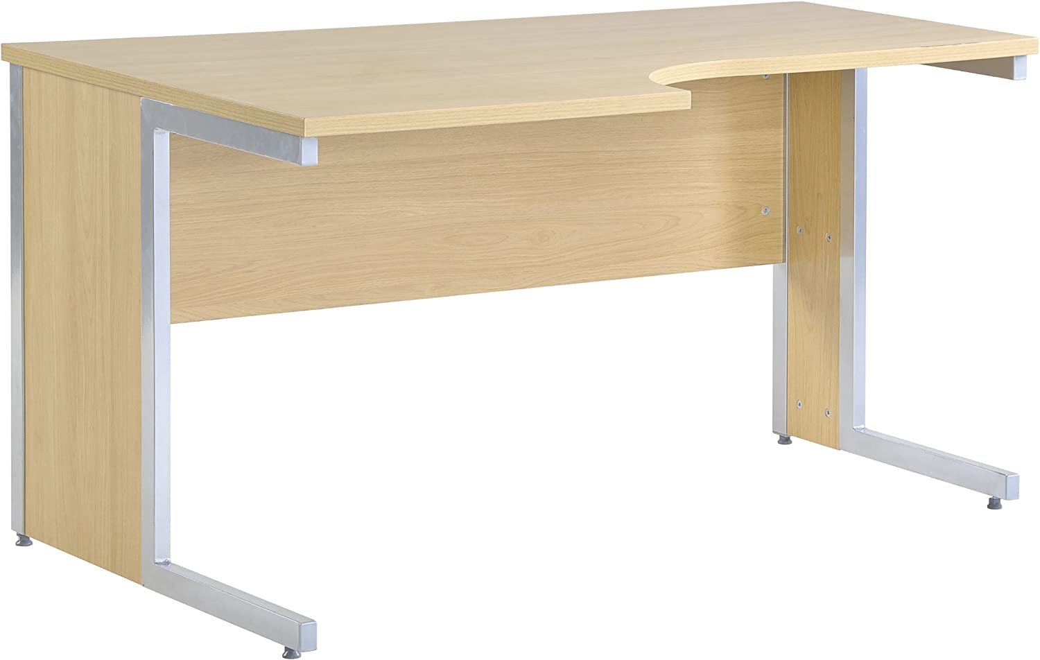 DAMS BEECH L SHAPED OFFICE CORNER DESK /& PEDESTAL DRAWERS GRADE B 160 X 160 CM