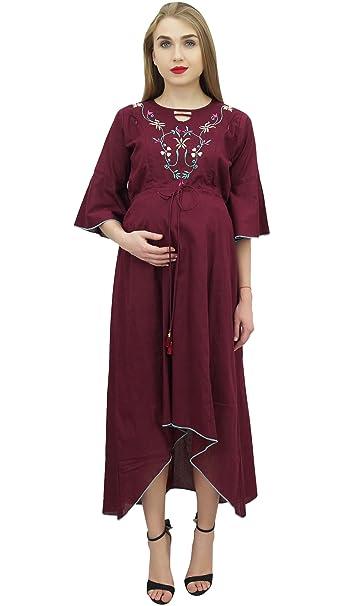 Bimba mamás Castaños asimétrico de Maternidad del Vestido Maxi Lazo de la Ropa de noche-