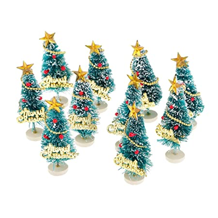 baoblaze tabletop mini christmas tree decorations festival miniature xmas trees decor