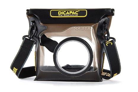 DiCAPac WP-S3 - Funda Sumergible para cámaras, Negro y Transparente
