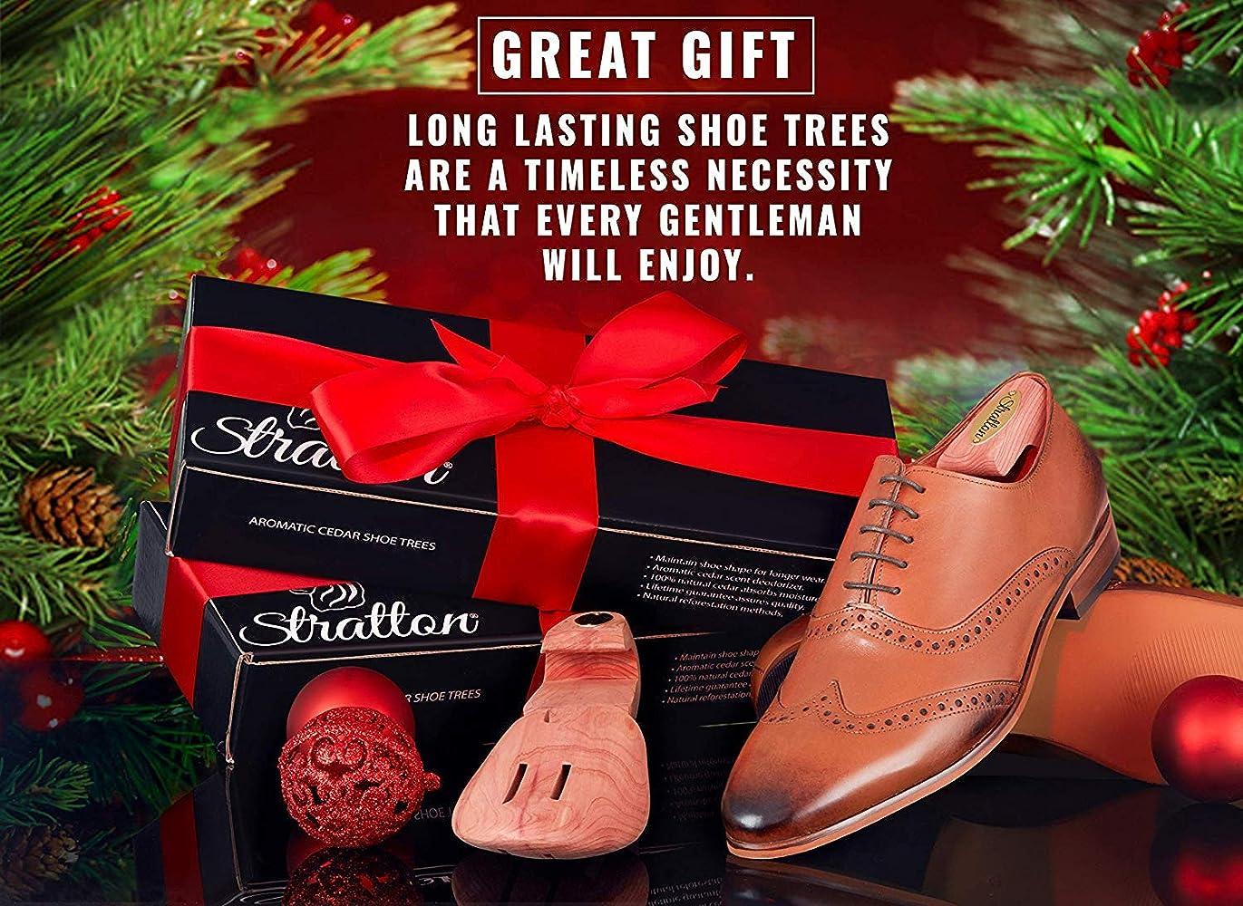 Cedar Shoe Trees for Men 2-Pack USA Red Aromatic Cedar Wood Shoe Trees