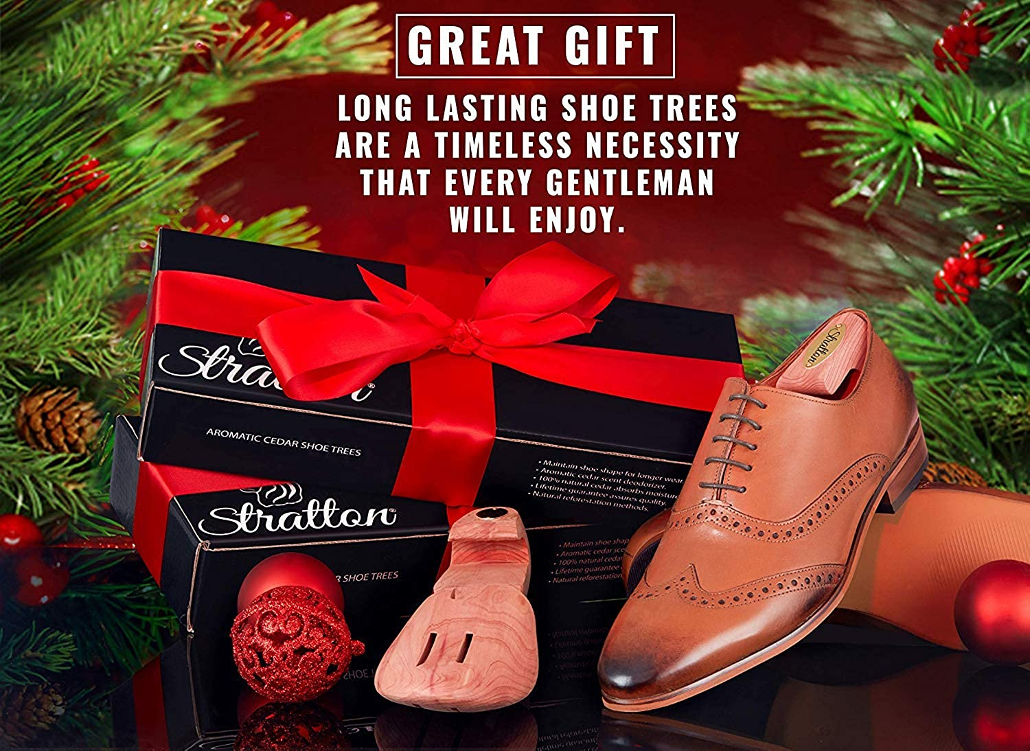 Christmas Shoe Tree.Stratton Cedar Shoe Tree 2 Pack For Men For 2 Pairs Of Shoes Grown In Usa