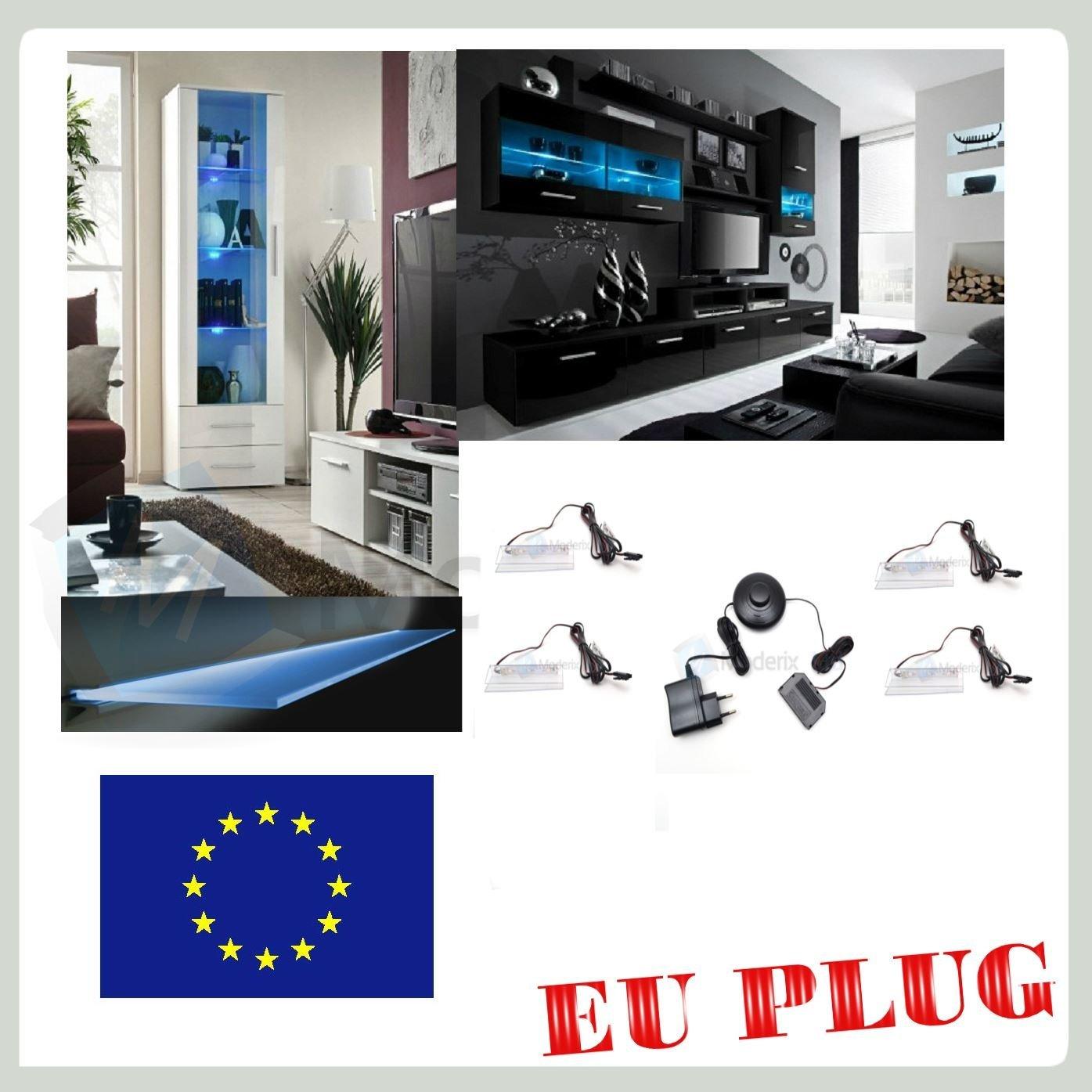 4 x LED éclairage, Verre Vitrine Bleu Smd LEDs éclairage Pour Chant en GTV