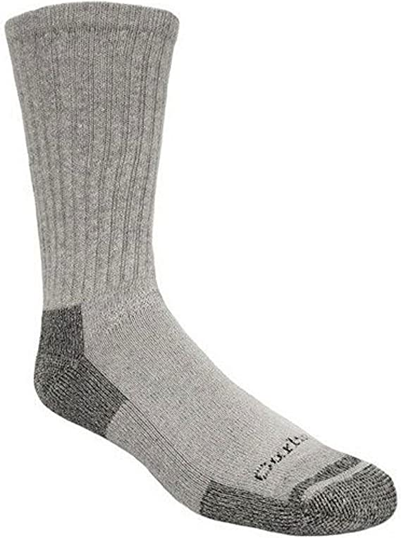 Carhartt Men's 3-Pack Standard All-Season Cotton Crew Work Socks, gray, Shoe Size: 5-10