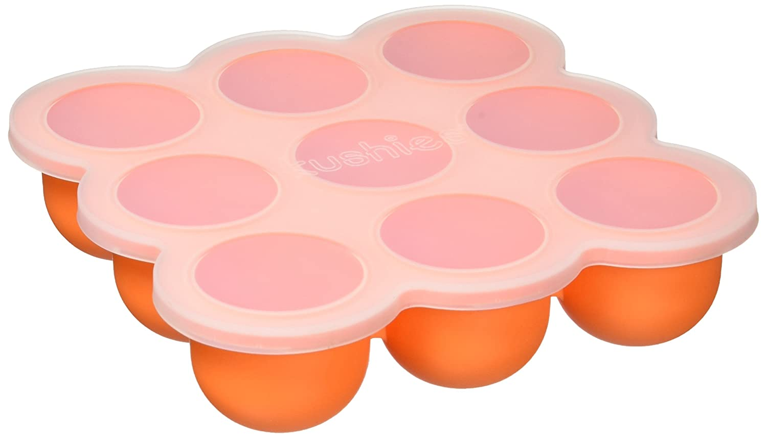 Kushies SILITRAY Silicone Baby Food Storage Container Freezer Tray, Orange Carrot Kushies Baby F101-33