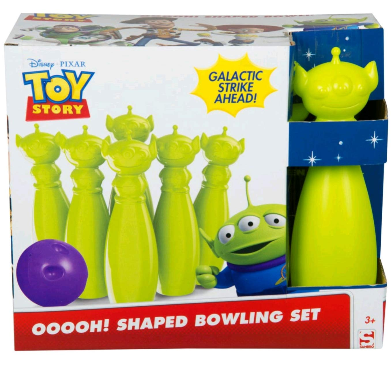 Sambro Toy Story Aliens Bowling Set, Featuring Woody, Buzz Jessie