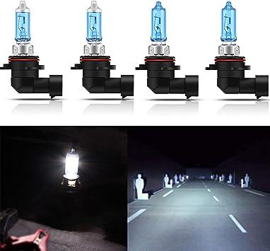 2* 9005 9006 55w Halogen Xenon Headlight Light Bulb 6K White Hi Low Beam New